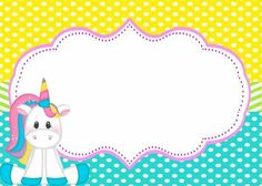 Convites de Unicórnio para Imprimir e Preencher: Grátis Unicorn Birthday Invitations, Unicorn Birthday Parties, Unicorn Party, Unicorn Printables, Party Printables, Diy And Crafts, Crafts For Kids, Boarders And Frames, Classroom Art Projects