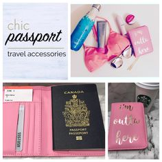 Packing pink - shop passport holders for your travel needs - Link in bio