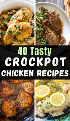 Easy Crockpot Chicken, Best Crockpot Recipes, Freezer Recipes, Quick Dinner Recipes, Slow Cooker Recipes, Chicken Recipes, Cooking Recipes, Crock Pot Slow Cooker, Crock Pot Cooking