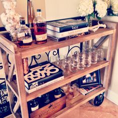 fashionable + rustic + home bar