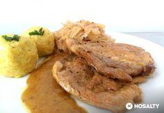 Német sertéssült párolt káposztával Hungarian Recipes, German Recipes, Meat Recipes, Pork, Food And Drink, Tasty, Lunch, Meals, Chicken