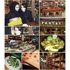 Took my sister on a sisterly date to Pantry Cafe     It's a new place in Al Wasil Square ❤     It's very cozy and the food is so healthy and unique     The decor is amazing You guys must visit ❤❤❤