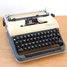 Vintage Typewriter Manual • Olympia SM3 Typewriter Two Tone • Made in Germany Portable Typewriter by lisabretrostyle2 on Etsy