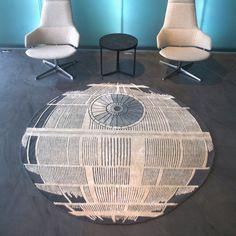 Death Star Rug – Star Wars Themed Rug Handmade in Nepal Decoration Star Wars, Star Wars Decor, Starwars, Star Wars Room, Death Star, Star Rug, Man Cave, Sweet Home, Geek Stuff