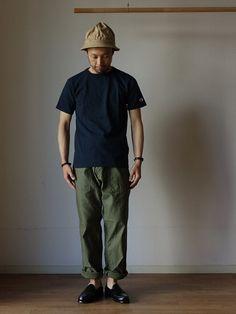 comoda上西猛夫さんの「Champion チャンピオン T1011 US T-SHIRT Tシャツ NVY ネイビー MADE IN USA アメリカ製(Champion)」を使ったコーディネート