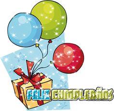 Regalo de cumpleaños con globos - ツ Imagenes y Tarjetas para Felicitar en Cumpleaños ツ
