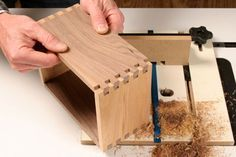Spice Up Your Drawers and Boxes with Classic Box Joints on the router table with this jig.