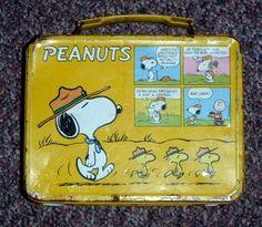 Vintage Peanuts King Seeley Metal Lunchbox Snoopy Charlie Brown 1960'S | eBay
