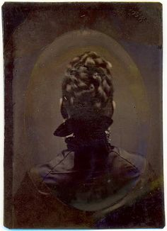 Victorians sometimes took tintypes of their backs when in mourning.