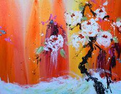 chi 36x48b Artwork, Flowers, Painting, Image, Interior Design, Nest Design, Work Of Art, Painting Art, Interior Designing