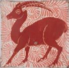William De Morgan tile . Catleugh collection.