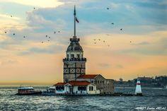 KIZ KULESİ - Üsküdar Salacak'tan gün batarken Kız Kulesi...