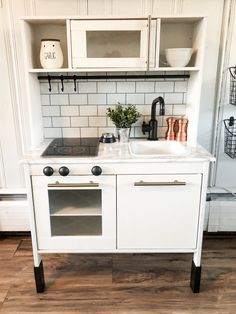 Newest Pics Ikea play kitchen hack Popular An Ikea kids' space continues to amaze the little ones, because they're provided far more than Ikea Toy Kitchen Hack, Diy Play Kitchen, Ikea Kitchen Cabinets, Diy Outdoor Kitchen, Kitchen Hacks, Play Kitchens, Toddler Kitchen, Childrens Play Kitchen, Diy Kids Furniture