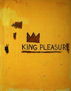 """""""King Pleasure"""" Jean-Michel Basquiat 1987. #jeanmichelbasquiat http://www.widewalls.ch/artist/jean-michel-basquiat/"""