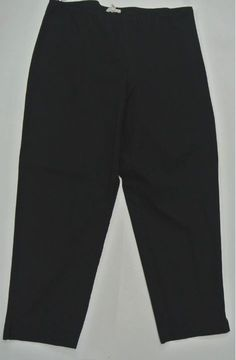 NWT Eileen Fisher Black Organic Cotton Stretch Twill Slim Capri Small #EileenFisher #CaprisCropped