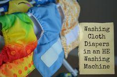 Washing Cloth Diapers in an HE Washing Machine