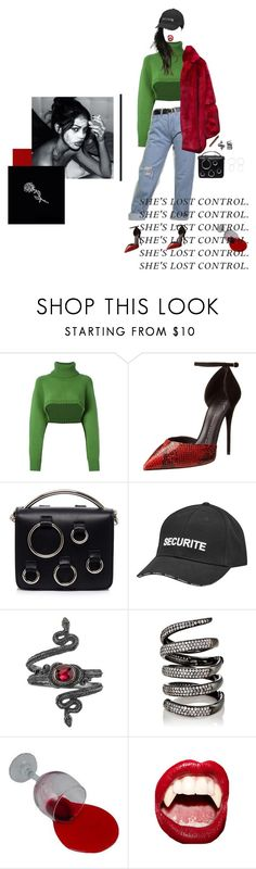 """""""They don't know"""" by strangervibes ❤ liked on Polyvore featuring I'm Isola Marras, Giuseppe Zanotti, MSGM, Vetements, Michael Barin, Fallon, ...Lost, Manic Panic NYC and Jennifer Fisher"""
