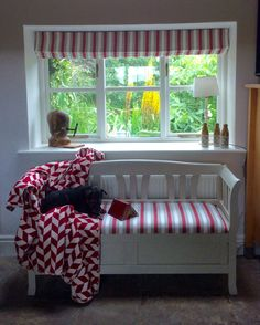 Roman Blinds, Valance Curtains, Bench, Storage, Projects, Interiors, Furniture, Fabric, Home Decor
