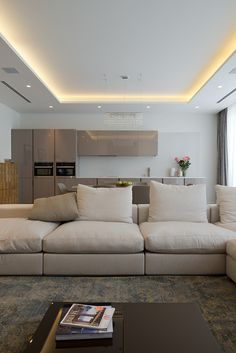 Want to create a cozy and stylish ambiance in your house? Go for indirect lighting and watch the magic. We have eleven great indirect lighting ideas for you House Ceiling Design, Ceiling Design Living Room, Ceiling Light Design, Home Ceiling, Living Room Designs, House Design, Design Design, Interior Design, Modern Ceiling Design