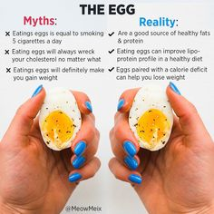 Let's clear up some questions on the egg I've done a bunch of research to help answers people's questions & help you feel empowered when going for this choice of healthy fats & protein ❤️More info below:.This study showed that incorporating daily whole egg into a healthy, moderate-carb diet actually improved lipoprotein profile (cholesterol, triglycerides, HDL, and LDL) and insulin resistance in individuals (Src 1).These 2 studies showed positive increases in HDL (good cholesterol