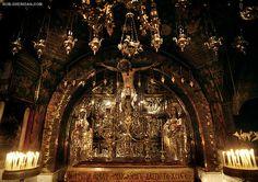 The Greek Orthodox Calvary, Site of Jesus Crucifixion - Jerusalem, Israel