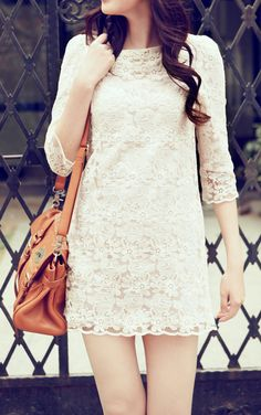 White Lace Dress for rehearsal dinner