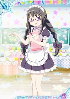 Homura maid - Madoka Magica Mobage Cards