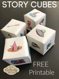 FREE Printable Story Cubes – The Activity Mom – Planning Playtime – art therapy activities Indoor Activities For Kids, Interactive Activities, Kindergarten Activities, English Activities For Kids, Fun Learning, Learning Activities, Picture Story For Kids, Story Cubes, Card Games For Kids