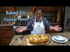 Italian Grandma Makes Baked Ziti/Rigatoni (Pasta al Forno) Video Recipes Italian Pasta Recipes, Pasta Dinner Recipes, Italian Dishes, Italian Meals, Italian Cooking, Rigatoni, Al Forno Recipe, Puerto Rico, Baked Ziti