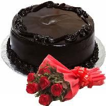 Combo Pack of cake and flowers @ http://www.cakengifts.in/cake-and-flowers