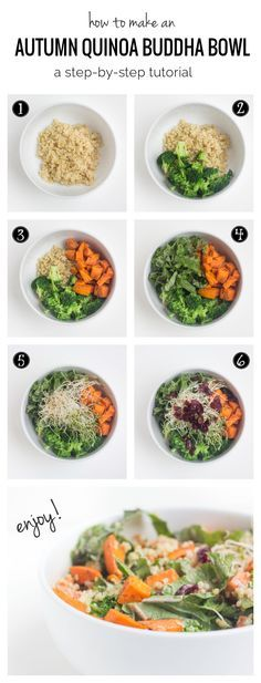 How to make a quinoa buddha bowl in 7 EASY STEPS - this super healthy, inspired dish has quickly become a staple for my lunches (#glutenfree and #vegan) – More at http://www.GlobeTransformer.org