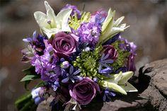 purple alstroemeria in the mix