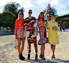 AnnaDelloRusso, Miroslava Duma, Elena Perminova and Carlotta Oddi   @ParisFashionWeek