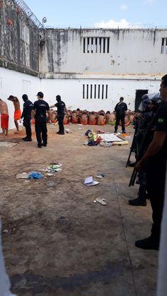 Prison yard in Brazil