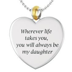 Always My Daughter Diamond Journey Pendant - The Danbury Mint