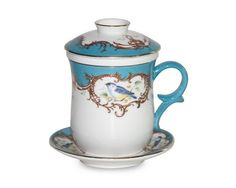 Gracie China 4-Piece Tea for Me Set, Peacock Blue Bird Coastline Imports,http://www.amazon.com/dp/B008ID3PYE/ref=cm_sw_r_pi_dp_ZeNQsb1HAH4HNYHT