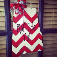 Door hanger State of Alabama by HappyHourMarket on Etsy, $35.00