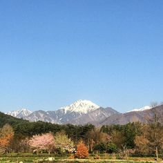"@fivestar77777's photo: ""さて、今日も頑張りましょう〜 #安曇野#朝#空#青空#常念岳#雪山 気温1℃"""