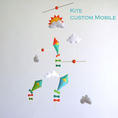 Poetic Flying Kite air balloon and Clouds Baby by Lovelygiftforkid, $80.00