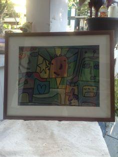 Donated framed art for Alpha House flood relief in Calgary.
