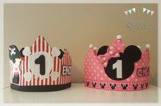 Corona de Cumpleaños Pirata Bebé / Corona de Cumpleaños Minnie Mouse