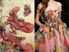 "Edward J Detmold - ""Amapolas flowers"", 1917 & Elie Saab S/S Collage by Liliya Hudyakova Elie Saab, M Instagram, Nature Sketch, Fashion Portfolio, Photo L, Mode Inspiration, Fashion Inspiration, Couture Dresses, Couture Outfits"