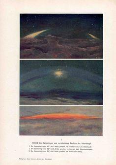 1900 saturn rings chart original antique celestial astronomy print. $25.50, via Etsy.