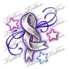Image detail for -Lung Cancer Ribbon Tattoo Designs Love the stars  Live the ribbon being infinite, design can work with any type of cancer.