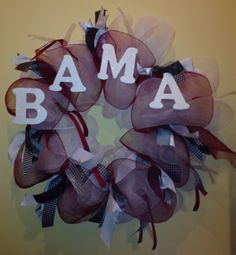 Welcome Baby Mesh Deco Wreaths | Alabama Deco Mesh Wreath by DarlingPeaches on Etsy