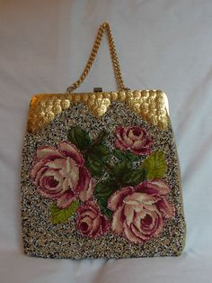 Vintage Jolles Original Purse great idea for pre-worked needing a quicker background.