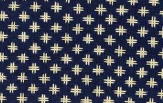 Sashiko Crosshatch Cotton Fabric Indigo Japanese Import