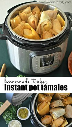 These homemade turkey instant pot tamales cook a lot faster than the stovetop steaming method and are a great idea to use up all of that leftover turkey from Thanksgiving! AD #MakeHeartburnHistory with help from @Walgreens
