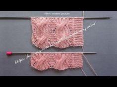 How to knit a sample of twisted diamond pattern female vests - örgü Knitting Videos, Knitting Stitches, Knitting Yarn, Baby Knitting, Knit Cardigan Pattern, Crochet Cardigan, Knit Crochet, Crochet Hats, Diy Christmas Crackers