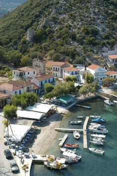 Frikes Bay in Ithaca island, Ionian Sea, Greece. - Selected by www.oiamansion.com